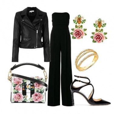 Outfit Flower and leather