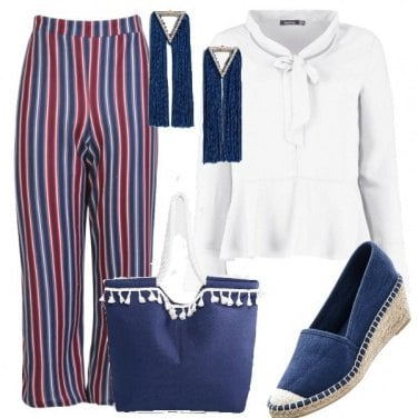 Outfit Blue stripes