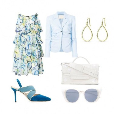 Outfit Azzurro cielo