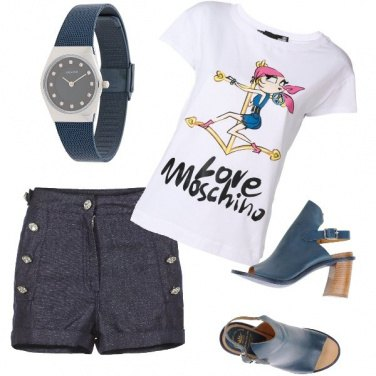 Outfit Donna in blu