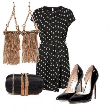 Outfit Pois e oro