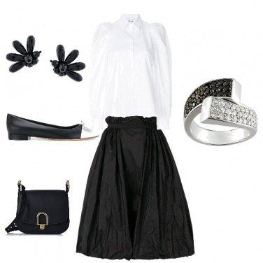 Outfit Bon ton bianco& nero