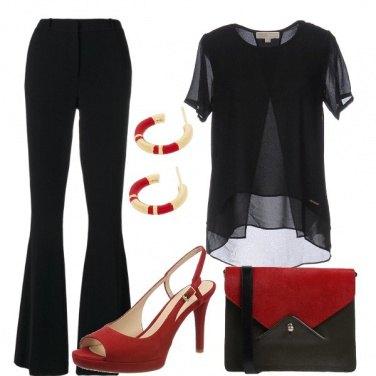 Outfit Il sandalo rosso