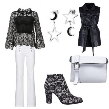 Outfit Pizzo black and white