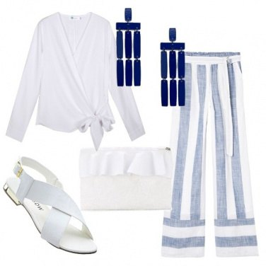 Outfit In riga e col tacco flat