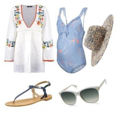Outfit Giornata al mare con il pancione