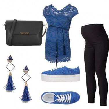 Outfit Comodità con un tocco di blu