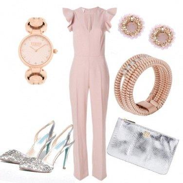 Outfit Perfetta in rosa e argento