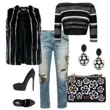 Outfit Lo smanicato di pelliccia