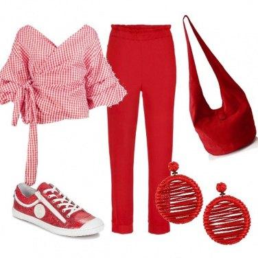 Outfit Rosso è bello