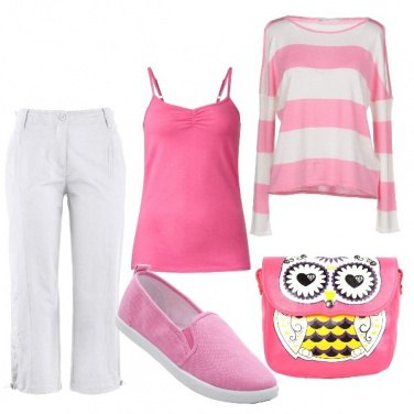 Outfit Frizzante in rosa