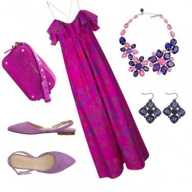 Outfit Viola che passione