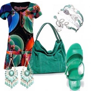 Outfit Verde acqua con grinta