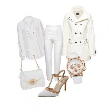 Outfit Fuori è grigio? Vado in bianco!