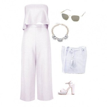 Outfit Bon ton in bianco