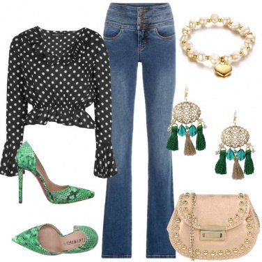 Outfit Serata in jeans e tacchi