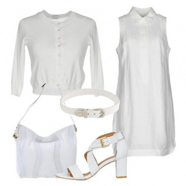 Outfit Bianco lino