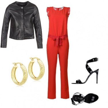 Outfit Jumpsuite rossa