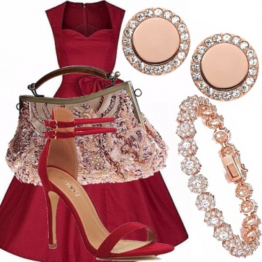 Outfit Porpora golden rose
