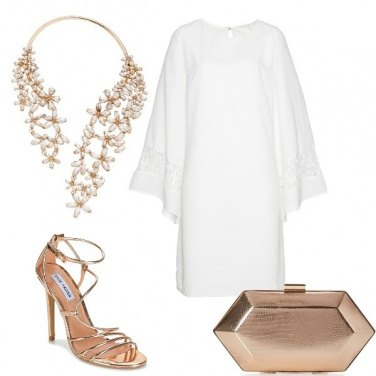 Outfit Sublime in bianco e oro