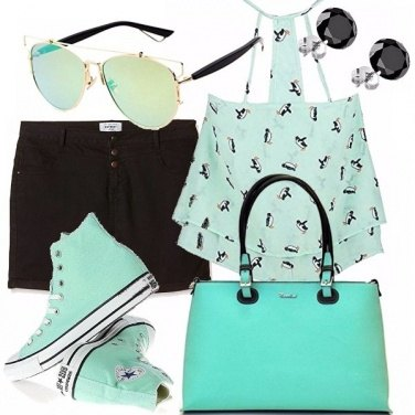 Outfit Teenager verde acqua