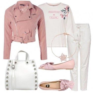 Outfit Biker jacket rosa