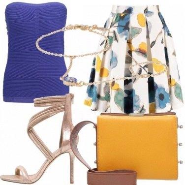 Outfit Giallo, oro e blu!