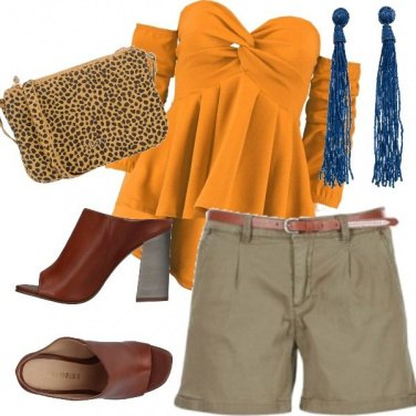 Outfit La blusa ocra
