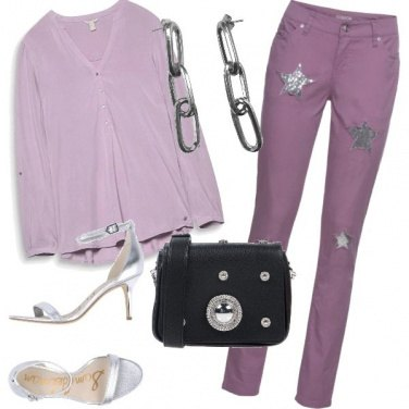 Outfit Purple and silver