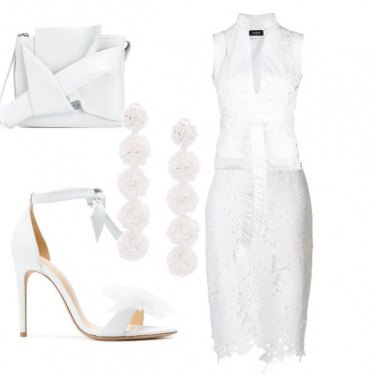 Outfit Total white anche di notte