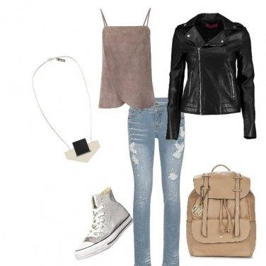 Outfit Biker Jacket