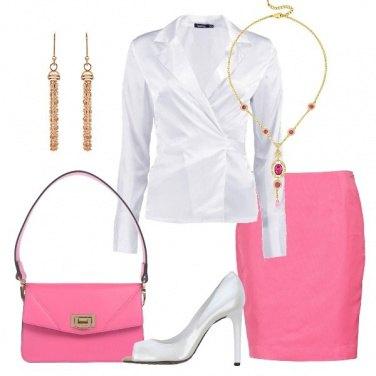 Outfit Rosa e bianco per la tua serata