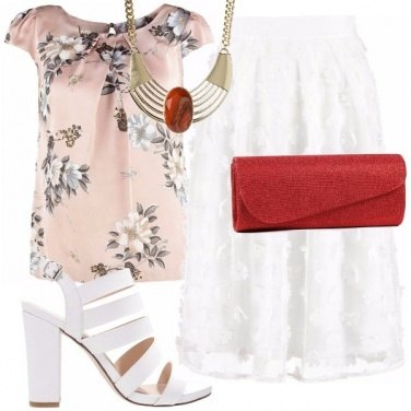 Outfit Look elegante in gonna giorno