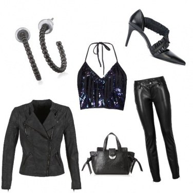Outfit In pelle nera