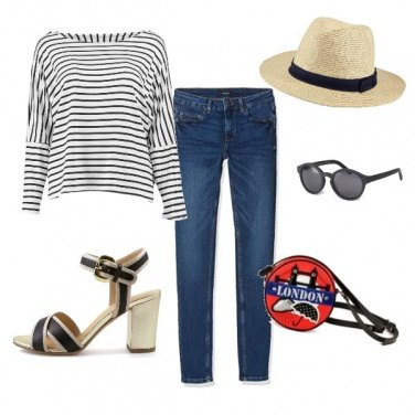 Outfit Jeans e cappello