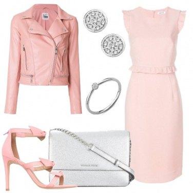 Outfit Rosa e oro bianco