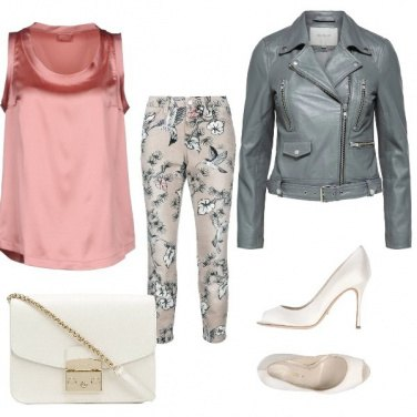 Outfit Pink Biker
