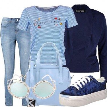 Outfit Azzurro col blu