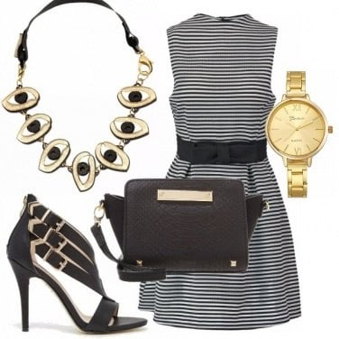 Outfit Aperitivo black gold
