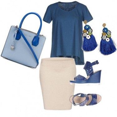 Outfit Panna e azzurro