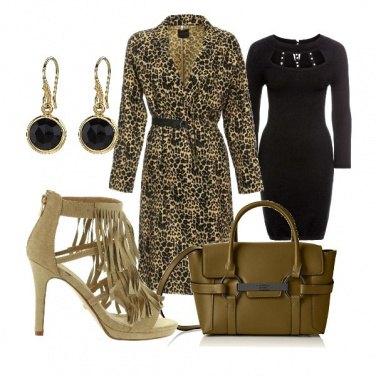 Outfit Animalier e frange