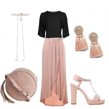 Outfit Rosa cerimonia