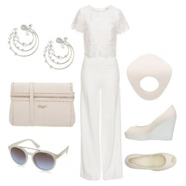 Outfit Total White con stile