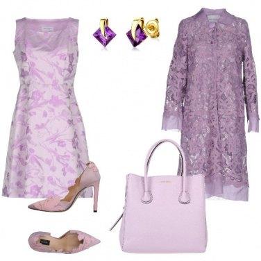 Outfit Cerimonia in lilla