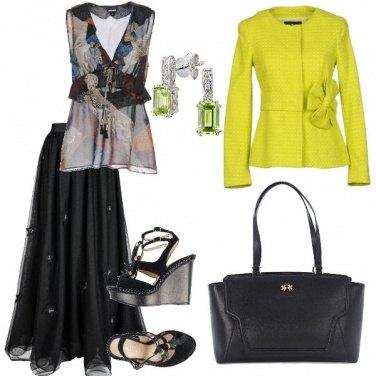 Outfit Deliziosa in nero e fluo
