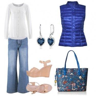 Outfit Zeppa e pantalone a zampa