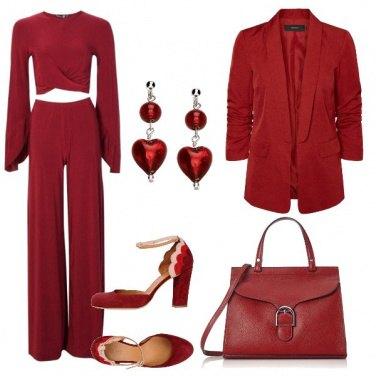 Outfit Cerimonia in amaranto