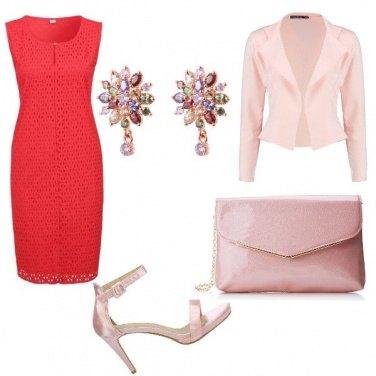 Outfit Rosa e rosso