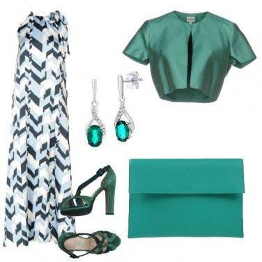 Outfit Eleganza verde smeraldo