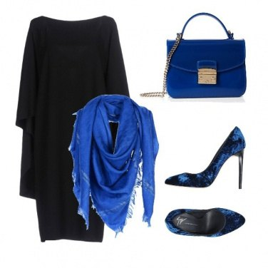 Outfit Nero + Blu